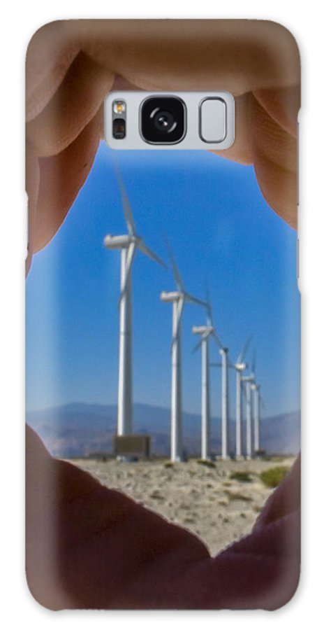 Wind Turbine Galaxy S8 Case featuring the photograph Power In The Hand by Scott Campbell