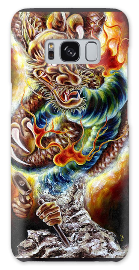 Caving Galaxy S8 Case featuring the painting Power Of Spirit by Hiroko Sakai
