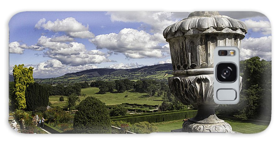 Wales Galaxy S8 Case featuring the photograph Powis Castle Garden Urn by Fran Gallogly