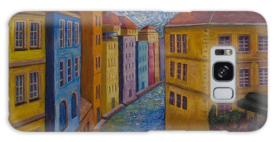 Prague Galaxy S8 Case featuring the painting Prague A La Vangogh by Jo-Anne Gazo-McKim