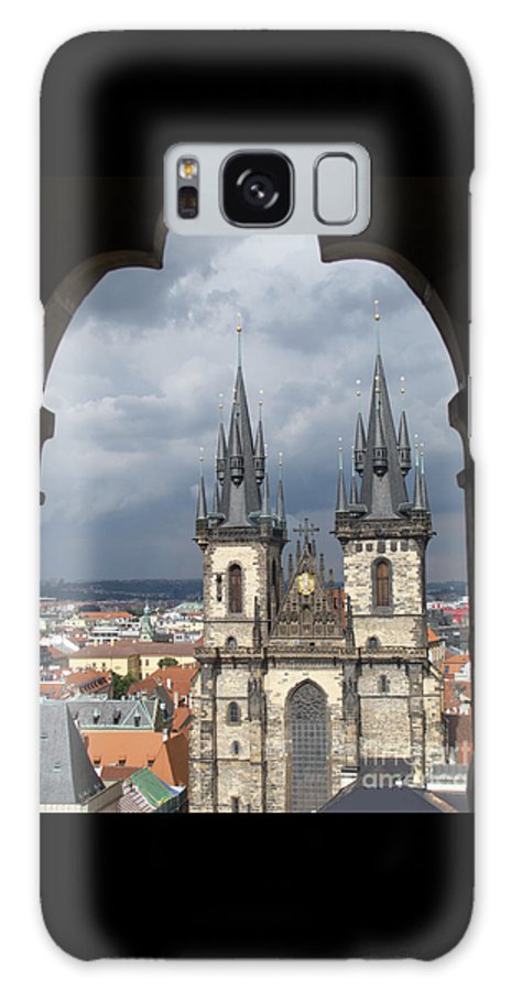 Prague Galaxy S8 Case featuring the photograph Prague From Town Hall Tower by Ann Horn