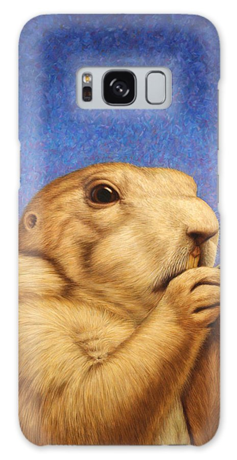 Prairie Dog Galaxy Case featuring the painting Prairie Dog by James W Johnson