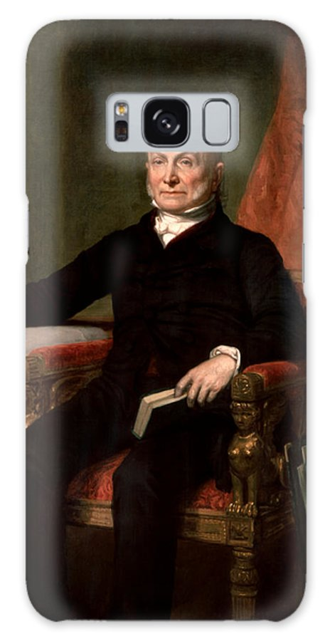 John Quincy Adams Galaxy S8 Case featuring the painting President John Quincy Adams by War Is Hell Store