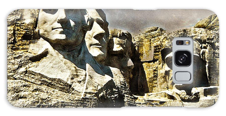 Rushmore Galaxy S8 Case featuring the photograph Presidential Rocks by Judy Hall-Folde