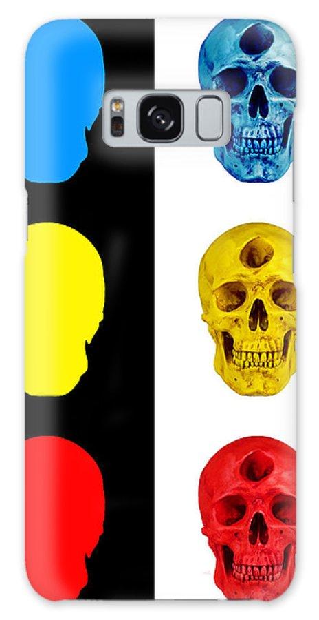 Skull Galaxy S8 Case featuring the digital art Primary by Noah Zark
