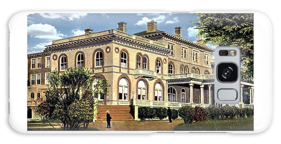 Princeton Galaxy S8 Case featuring the digital art Princeton New Jersey - The Princeton Inn - 1925 by John Madison