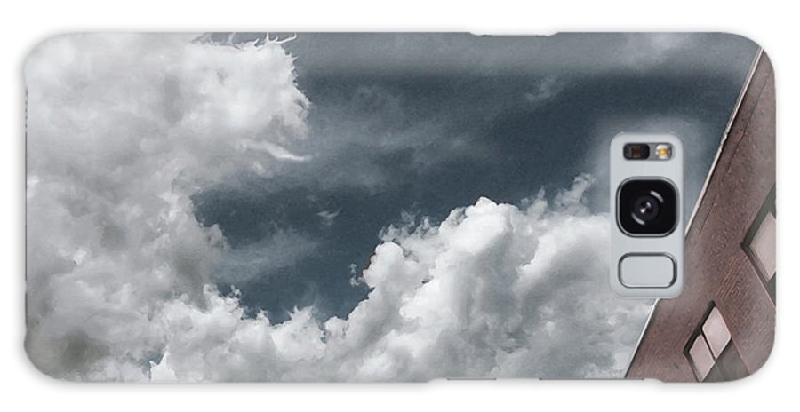 Sky With Strange Clouds. Clouds Shaped Like Dragon. Building And Sky. Building Top With Clouds. Cityscape With Clouds Galaxy S8 Case featuring the digital art Priscilla's Dragon by David Klaboe