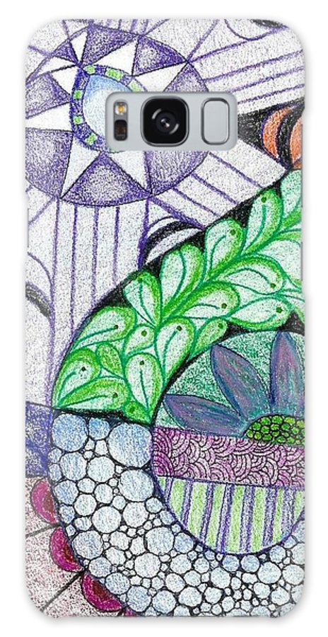 Zentangle Patterns Galaxy S8 Case featuring the mixed media Prisma by Ruth Dailey
