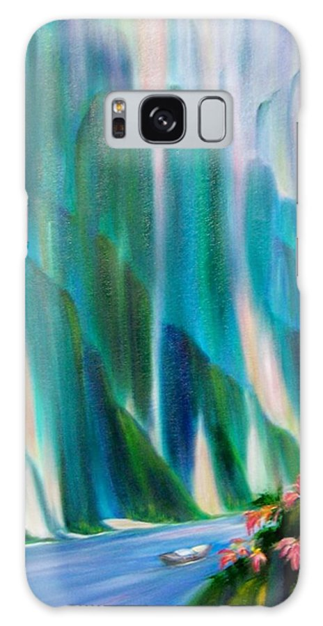 Water Galaxy S8 Case featuring the painting Prisms by Dina Holland