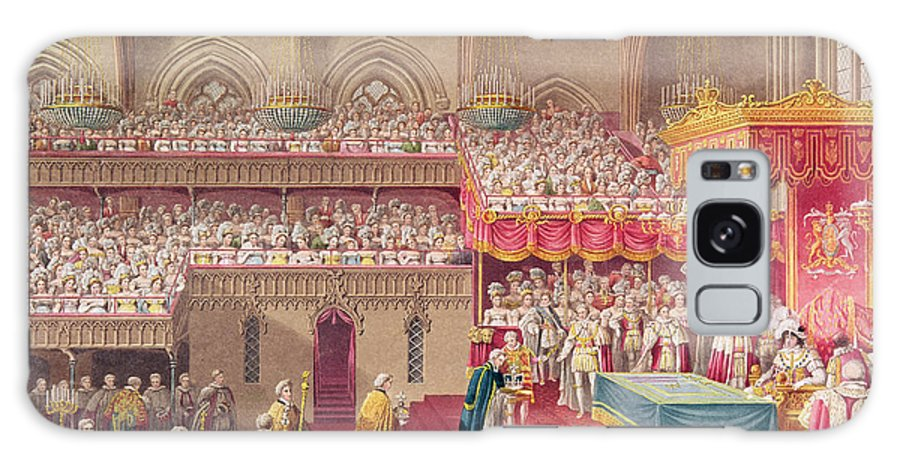 Ceremony Galaxy S8 Case featuring the photograph Procession Of The Dean And Prebendaries Of Westminster Bearing The Regalia, From An Album by Charles Wild