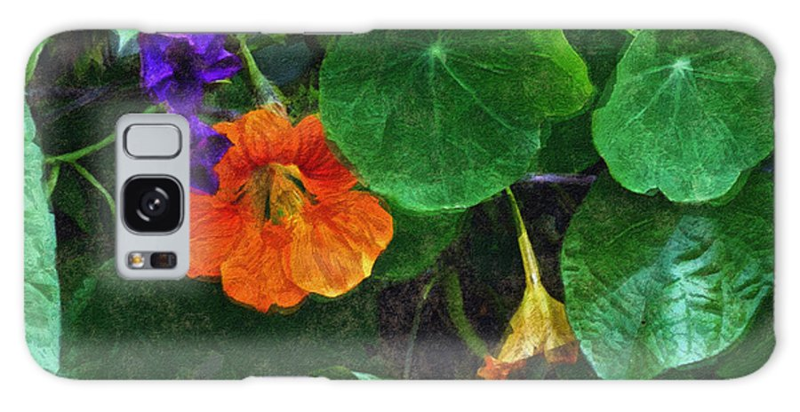 Nasturtiums Galaxy S8 Case featuring the painting Prolonging Summer by RC DeWinter