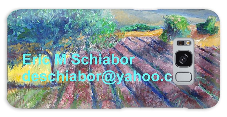 The Actor Galaxy S8 Case featuring the painting Provence Lavender Field by Eric Schiabor