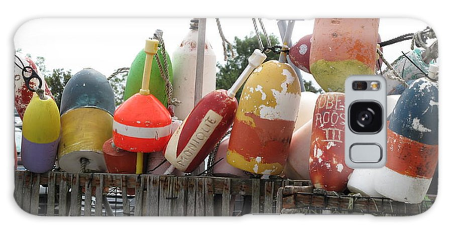 Buoys Galaxy S8 Case featuring the photograph Provencetown Lobster Buoys by Barbara McDevitt