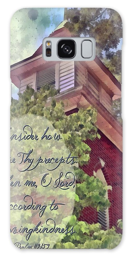 Jesus Galaxy S8 Case featuring the digital art Psalm 119 159 by Michelle Greene Wheeler