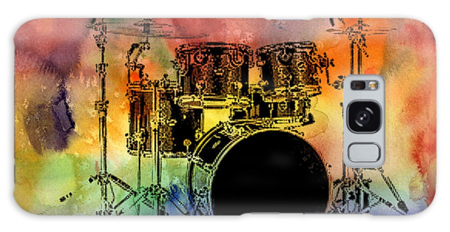 Drums Galaxy Case featuring the photograph Psychedelic Drum Set by Athena Mckinzie