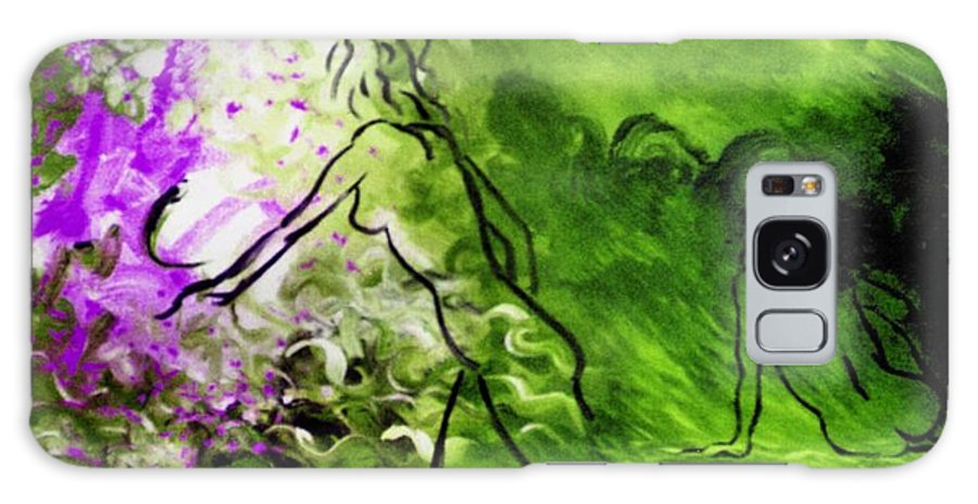 Genio Galaxy S8 Case featuring the painting Psychological State In Green by Genio GgXpress