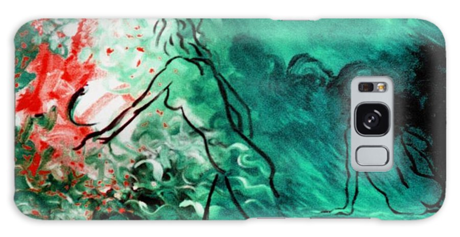 Genio Galaxy S8 Case featuring the mixed media Psychological State Of Emerald by Genio GgXpress