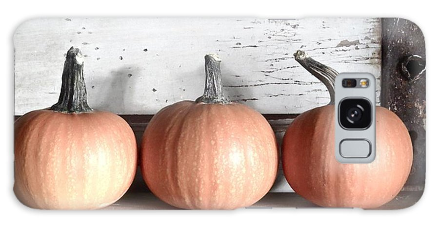Pumpkin Galaxy S8 Case featuring the photograph Pumpkin Trio by Angie Mahoney