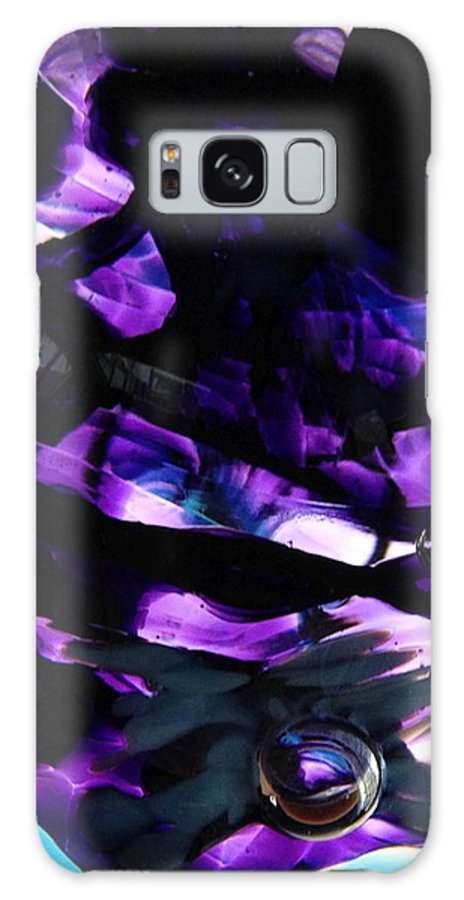 Glass Galaxy S8 Case featuring the photograph Purple Abstract by Angela Rath