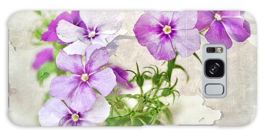 Purple Flowers Galaxy S8 Case featuring the photograph Purple Beauties by Cathie Tyler