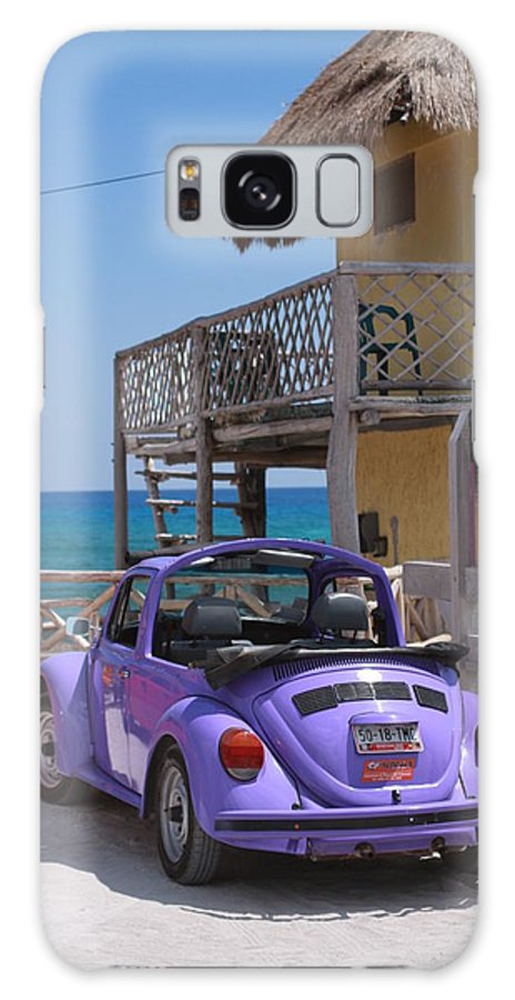 Mexico Galaxy S8 Case featuring the photograph Purple Beetle Beachside Cozumel Mexico by Lee Vanderwalker