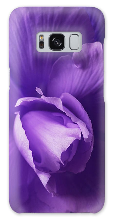 Begonia Galaxy S8 Case featuring the photograph Purple Begonia Flower by Jennie Marie Schell