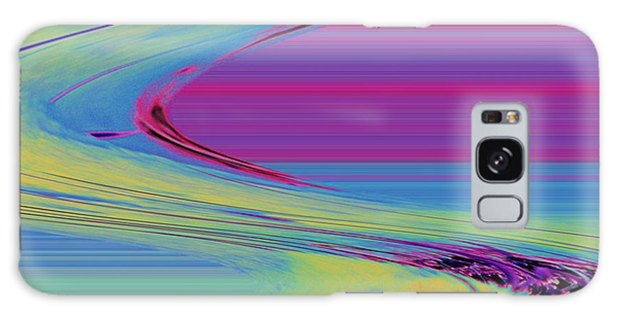 Purple Galaxy S8 Case featuring the digital art Purple by Carol Lynch