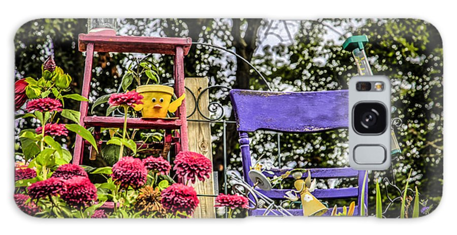 Garden. Chair Galaxy S8 Case featuring the photograph Purple Chair by Ray Congrove