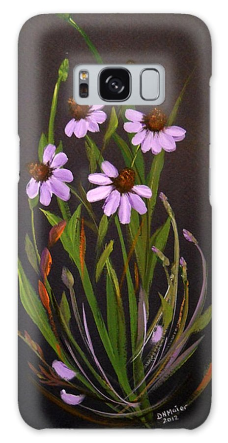 Purple Coneflowers Galaxy S8 Case featuring the painting Purple Coneflowers by Dorothy Maier