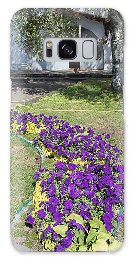 Purple Galaxy S8 Case featuring the photograph Purple Flowerbed by Evgeny Pisarev