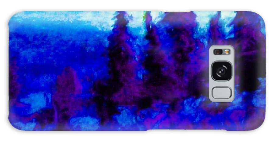 Galaxy S8 Case featuring the painting Purple Forest by IAMJNICOLE JanuaryLifeBrand