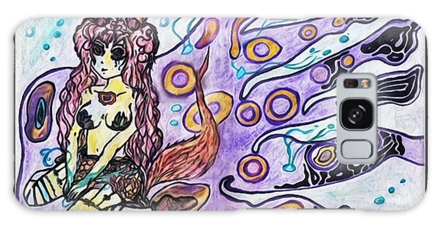 Pretty Galaxy S8 Case featuring the digital art Purple Girl by Katey B