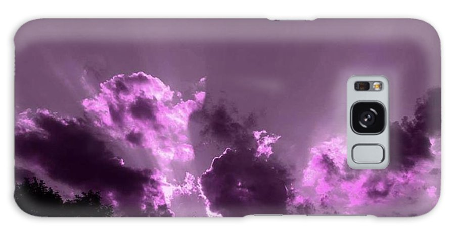 Skyscapes Galaxy S8 Case featuring the photograph Purple Glory by Linda Tucker
