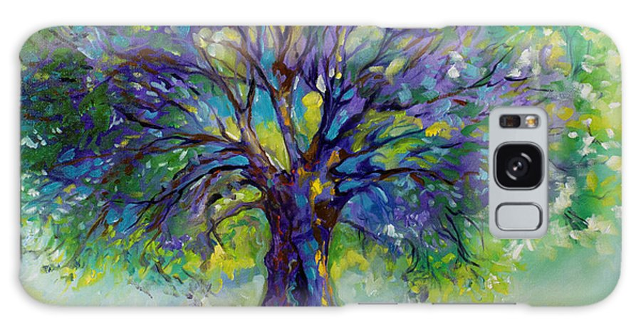 Tree Galaxy Case featuring the painting Purple Heart Tree Of Life by Marcia Baldwin