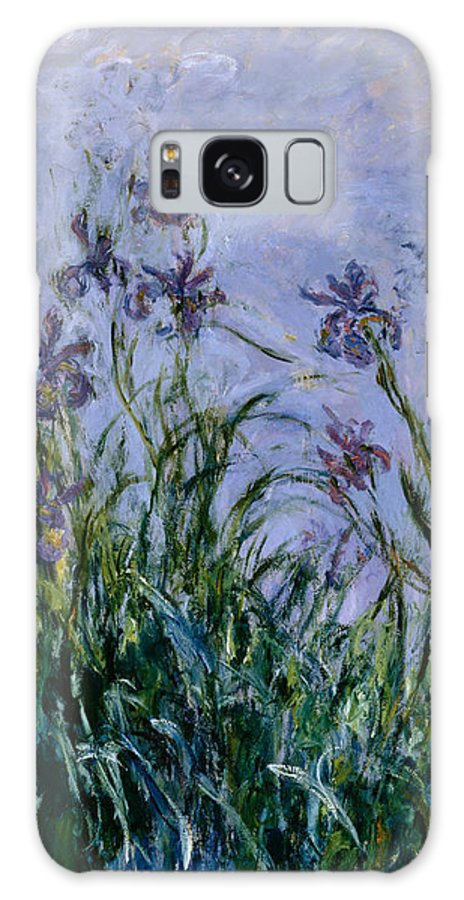 Purple Galaxy Case featuring the painting Purple Irises by Claude Monet