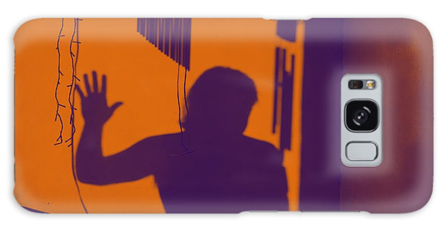 Shadow Galaxy S8 Case featuring the photograph Purple Orange Figure Shadow by Christopher Shellhammer