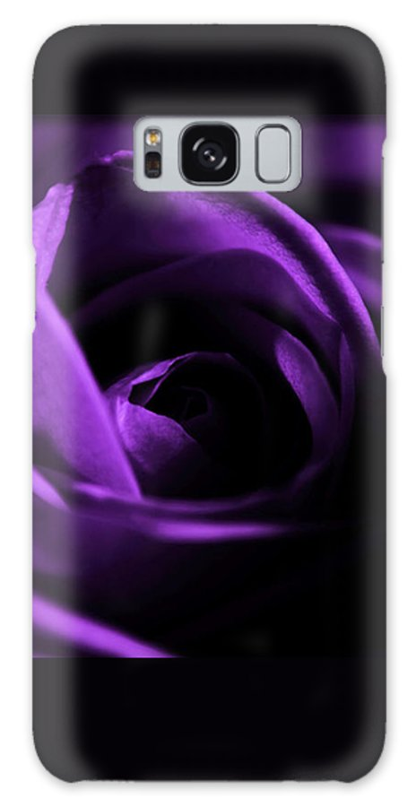 Rose Galaxy S8 Case featuring the photograph Purple Passion by Robin Lynne Schwind