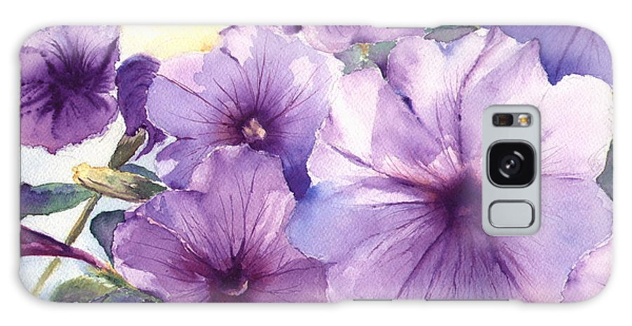 Purple Galaxy Case featuring the painting Purple Profusion by Patricia Henderson