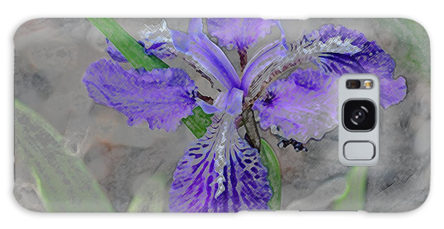 Purple Rain Iris Galaxy S8 Case featuring the digital art Purple Rain IIi by Don Wright