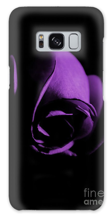Rose Galaxy S8 Case featuring the photograph Purple Rose Bud by Robin Lynne Schwind