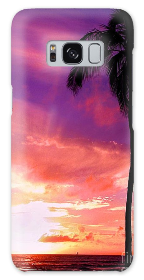 Sunset Galaxy S8 Case featuring the photograph Purple Sky by Kristine Merc
