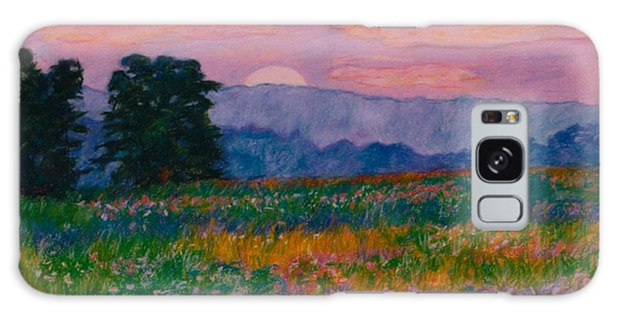 Kendall Kessler Galaxy S8 Case featuring the painting Purple Sunset On The Blue Ridge by Kendall Kessler
