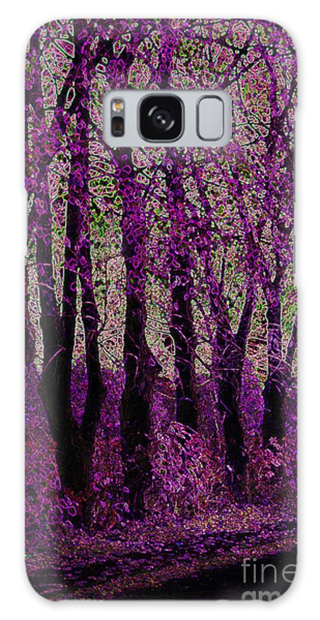 Purple Galaxy S8 Case featuring the digital art Purple Trees by Carol Lynch