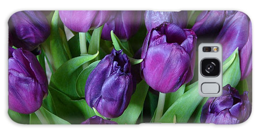 Purple Galaxy S8 Case featuring the photograph Purple Tulips by Carol Lynch
