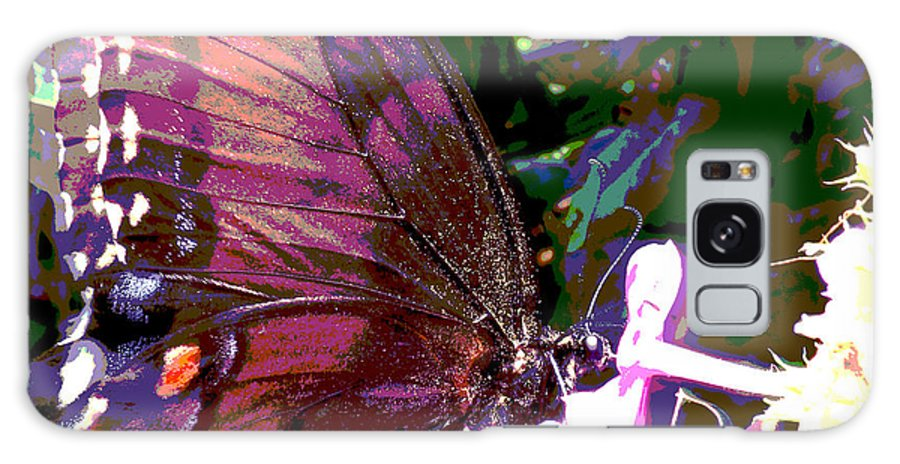 Purple Wings Galaxy S8 Case featuring the photograph Purple Wings by Walter Klockers