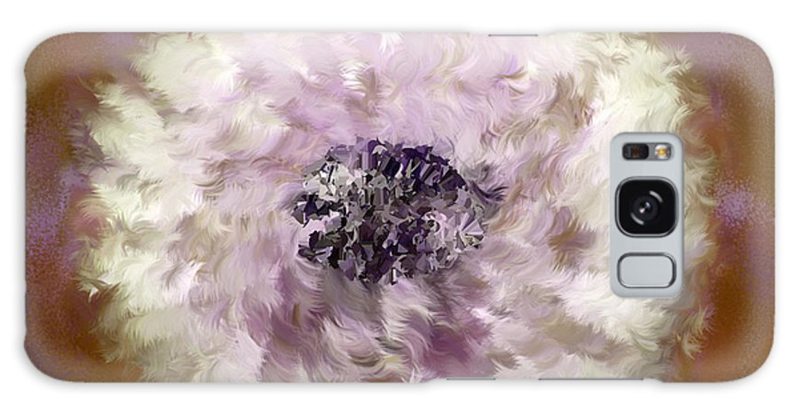 Flowers Galaxy S8 Case featuring the digital art Pursuit Of Happiness Brown White by Holley Jacobs