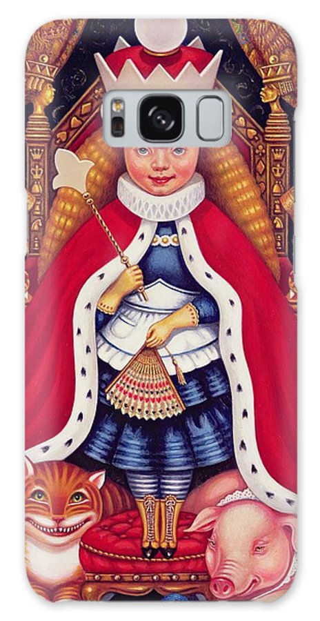 Royal Galaxy S8 Case featuring the photograph Queen Alice, 2008 Oil And Tempera On Panel by Frances Broomfield