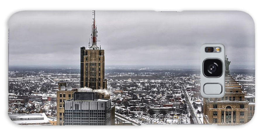 Buffalo Galaxy S8 Case featuring the photograph Queen City Winter Wonderland After The Storm Series 0012 by Michael Frank Jr