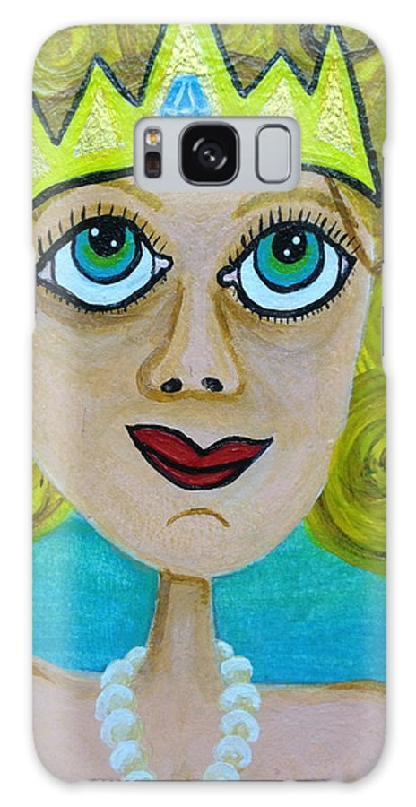 Woman Galaxy S8 Case featuring the painting Queen Of Diamonds by Diego Zegarra