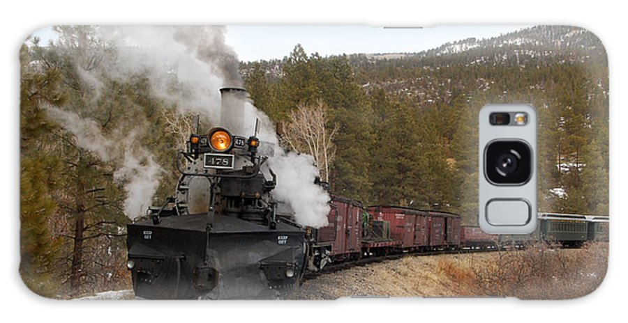 Steam Train Galaxy S8 Case featuring the photograph Quick Stop On The Line by Ken Smith